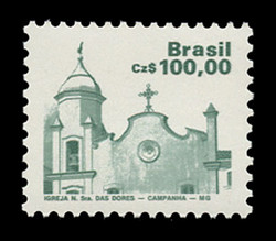 BRAZIL Scott # 2071, 1986 100cz Church of our Lady of Sorrow, Campanha