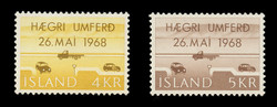 ICELAND Scott #  397-8, 1968 Right-Hand Driving in Iceland (Set of 2)