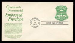 U.S. Scott #U582 13c Bicentennial Envelope First Day Cover.  Anderson cachet, GREEN variety.