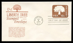 U.S. Scott #U576 13c Liberty Tree Envelope First Day Cover.  Anderson cachet, BROWN variety.