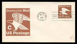"U.S. Scott #U594 (20c) ""C"" Eagle Envelope First Day Cover.  Andrews cachet."