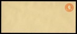 U.S. Scott # U 530/21, UPSS #2729/38 1915-32 6c Washington, orange on amber - Mint (See Warranty)