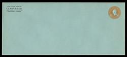 U.S. Scott # U 531/25, UPSS #2736/35 1915-32 6c Washington, orange on blue - Mint (See Warranty)