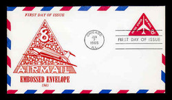 U.S. Scott #UC37 8c Jet Envelope First Day Cover.  Centennial cachet.