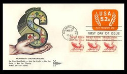 U.S. Scott #U604 5.2c Non-Profit Org. Envelope First Day Cover.  Gill Craft cachet.