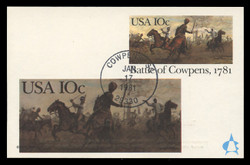 U.S. Scott #UX87 10c Battle of Cowpens Postal Card First Day Cover.  Andrews cachet.