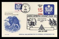 U.S. Scott #UZ4 15c Official Mail Postal Card First Day Cover.  KMC Venture cachet.