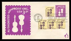 U.S. Scott #U590 3.5c Non-Profit Envelope First Day Cover.  Andrews cachet.
