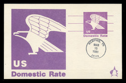 "U.S. Scott #UX88 (12c) ""B"" Eagle Postal Card First Day Cover.  Andrews cachet."