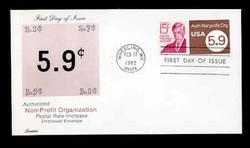 U.S. Scott #U591 5.9c Non-Profit Envelope First Day Cover.  Lorstan cachet.