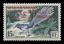 FSAT Scott #   1, 1955 Madagascar #289, Overprinted in Red