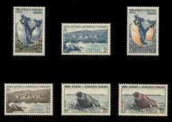 FSAT Scott #   2 - 7, 1956 Penguins, New Amsterdam, Kerguelen Archipeligo (Set of 6)