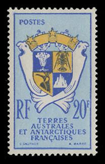 FSAT Scott #  15, 1959 Coat of Arms