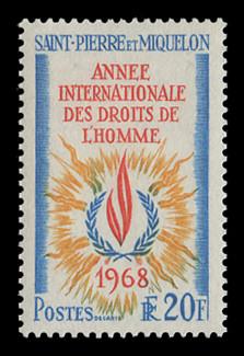 FSAT Scott #  32, 1968  Human Rights Year Issue
