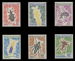 FSAT Scott #  46 - 51, 1972  Antarctic Insects (Set of 6)