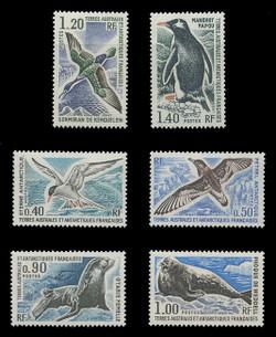 FSAT Scott #  58-63, 1976 Antarctic Animals (Set of 6)