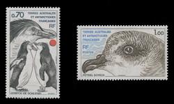 FSAT Scott #  82-3, 1979 Antarctic Birds - Penguin & Petrel (Set of 2)