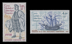 FSAT Scott #  87-8, 1979 Discovery of Amsterdam Island (Set of 2)