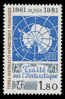 FSAT Scott #  94, 1981  20th Anniversary, Antarctic Treaty