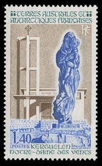 FSAT Scott #  99, 1983 Statue - Our Lady of the Winds & Kerguelen Church