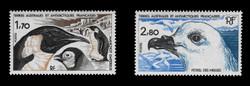 FSAT Scott # 114-5, 1985 Birds - Emperor Penguins & Snowy Petrel (Set of 2)