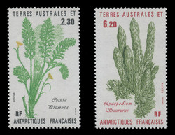 FSAT Scott # 121-2, 1986 Antarctic Plants (Set of 2)