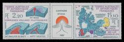 FSAT Scott # 141a, 1988 Mt. Ross Campaign (140-1 Pair + Label)