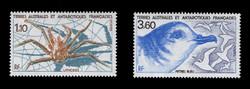 FSAT Scott # 143-4, 1989 Fauna - Lithodes & Blue Petrel (Set of 2)