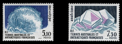 FSAT Scott # 146-7, 1989 Minerals - Mesotype & Analcime (Set of 2)