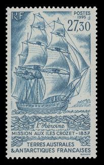 FSAT Scott # 210, 1995 Ship - L'Heroine, Crozet Islands Mission
