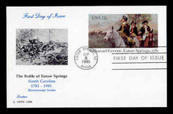 U.S. Scott #UX 90 12c Nathanael Greene Postal Card First Day Cover.  Lorstan cachet.