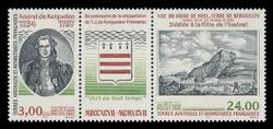FSAT Scott # 234a, 1997 Yves-Joseph de Kerguelen-Tremarec (216-7 Pair + Label)