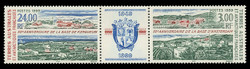 FSAT Scott # 254a, 1999 Amstrdam & Kerguelen Bases - 50th Anniv. (253-4 Pair + Label)