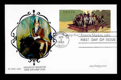 U.S. Scott #UX94 13c Francis Marion Postal Card First Day Cover.  New Direxions cachet.