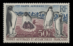 FSAT Scott # C   4, 1963 Adelie Penguins