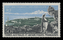 FSAT Scott # C  14, 1968 50fr Port aux Francais, Penguin, Explorer