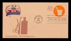 U.S. Scott #U574 13c Bicentennial - American Doctor Envelope First Day Cover.  MARG cachet.