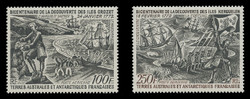 FSAT Scott # C  26 -7, 1972 Crozet. Kerguelen Discovery (Set of 2)