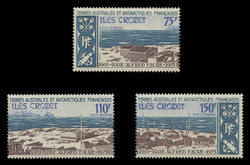 FSAT Scott # C  33-5, 1974 Alfred Faure Base (Set of 3)