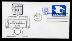 U.S. Scott #U566 8c (U557) + 2c Eagle Envelope First Day Cover.  Day Lowry Aristocrat cachet.