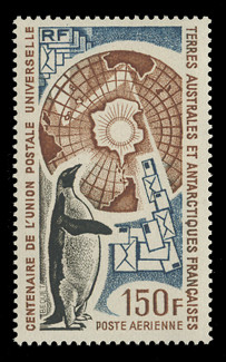 FSAT Scott # C  36, 1974 Centenary of the Universal Postal Union