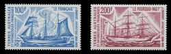 FSAT Scott # C  37-8, 1974 Antarctic Sailing Ships (Set of 2)