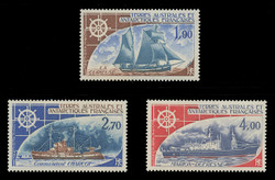 FSAT Scott # C  41-3, 1976 Antarctic Sailing Ships (Set of 3)