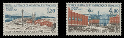 FSAT Scott # C  44-5, 1976 Dumont D-Urville Base - 20th Anniversary (Set of 2)