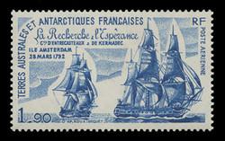 FSAT Scott # C  56, 1979 Arrival of d'Entrecasteaux & Kermadec at Amsterdam Island