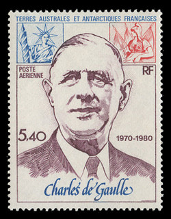 FSAT Scott # C  60, 1980 Charles de Gaulle, 10th Anniversary of Death