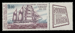 FSAT Scott # C  84, 1984 NORDPOSTA & Scientific Vessel - Gauss (C84 + Label)