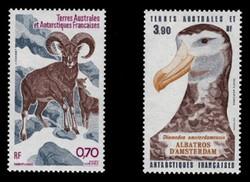 FSAT Scott # C  85-6, 1985 Wildlife - Sheep & Albatross (Set of 2)