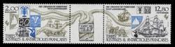FSAT Scott # C  90a, 1985 Ships, Ropes, Flora, Fauna (C89-90 + Label)