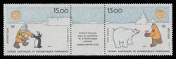 FSAT Scott # C 120a, 1991 French Institute of Polar Research (C119-20 + Label)